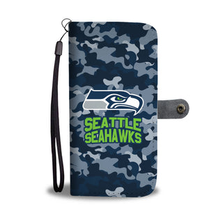 Camo Pattern Seattle Seahawks Wallet Phone Cases