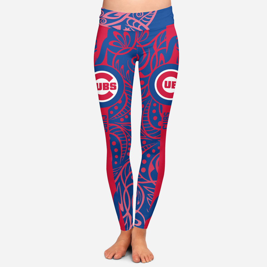 Curly Line Charming Daily Fashion Chicago Cubs Leggings