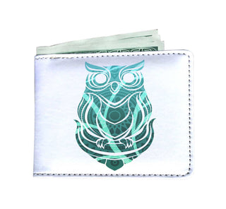 Beautiful Tribal Owl Print Men's Wallet Ver 3