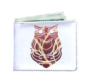 Beautiful Tribal Owl Print Men's Wallet Ver 4