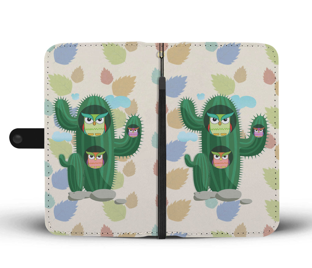 Owl Cactus Wallet Phone Cases