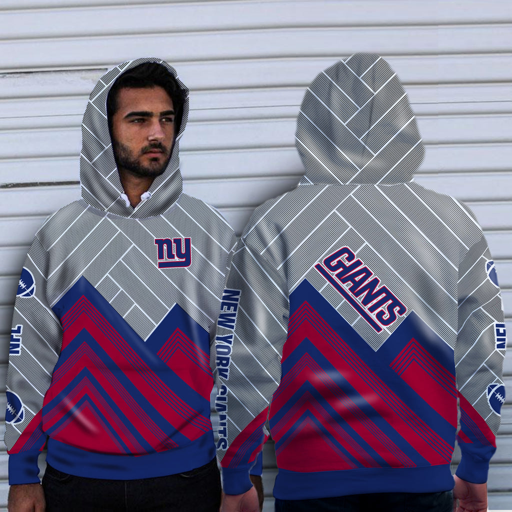 Black Cross Line New York Giants Hoodie