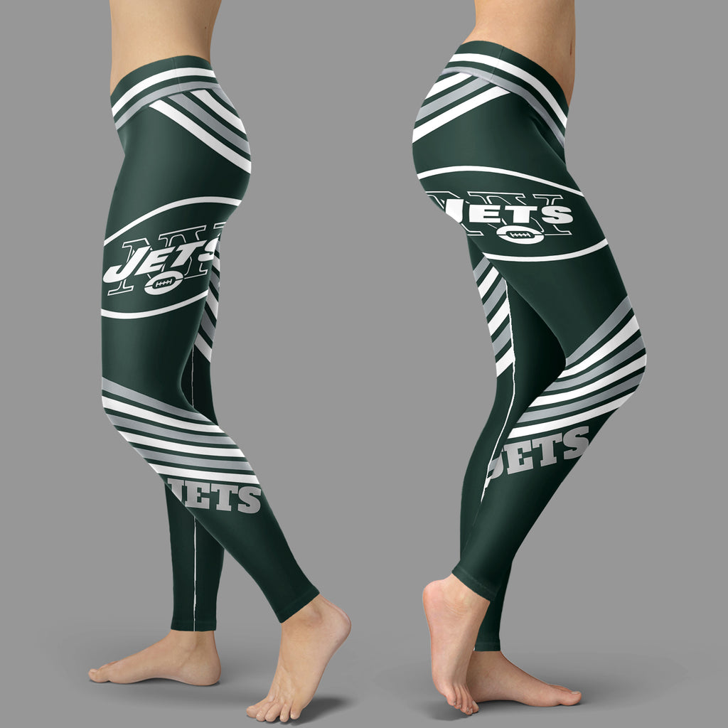 Straight Cute Beautiful Attractive New York Jets Leggings