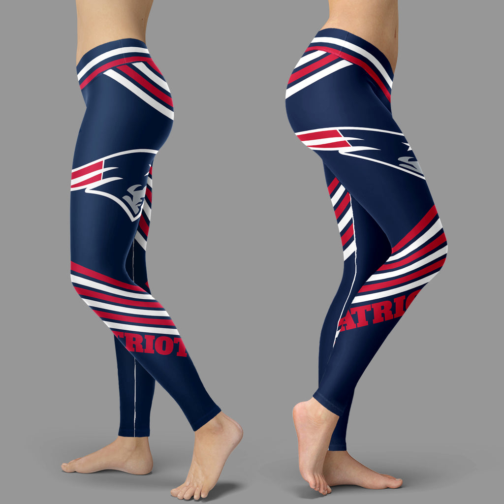 Straight Cute Beautiful Attractive New England Patriots Leggings