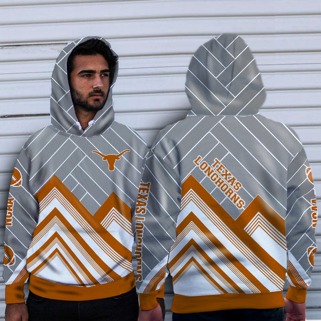 Black Cross Line Texas Longhorns Hoodie