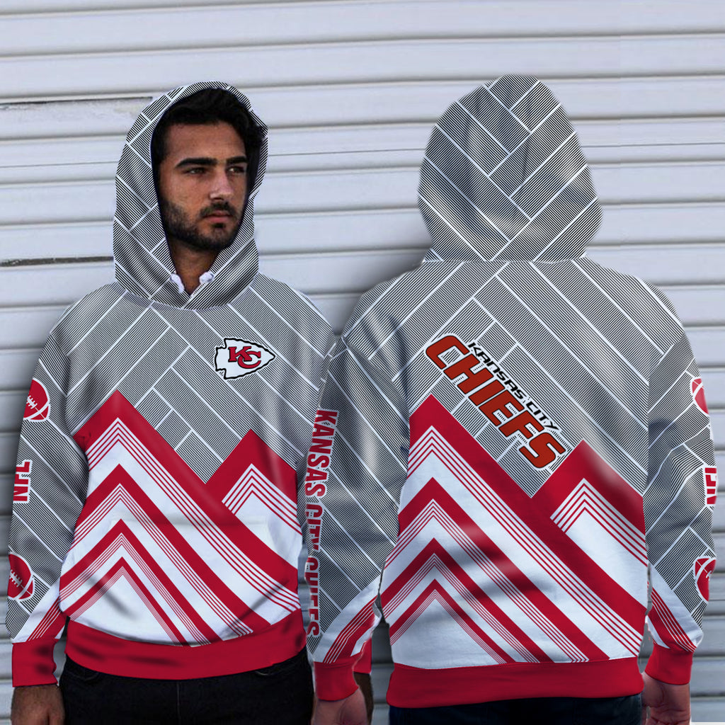 Black Cross Line Kansas City Chiefs Hoodie
