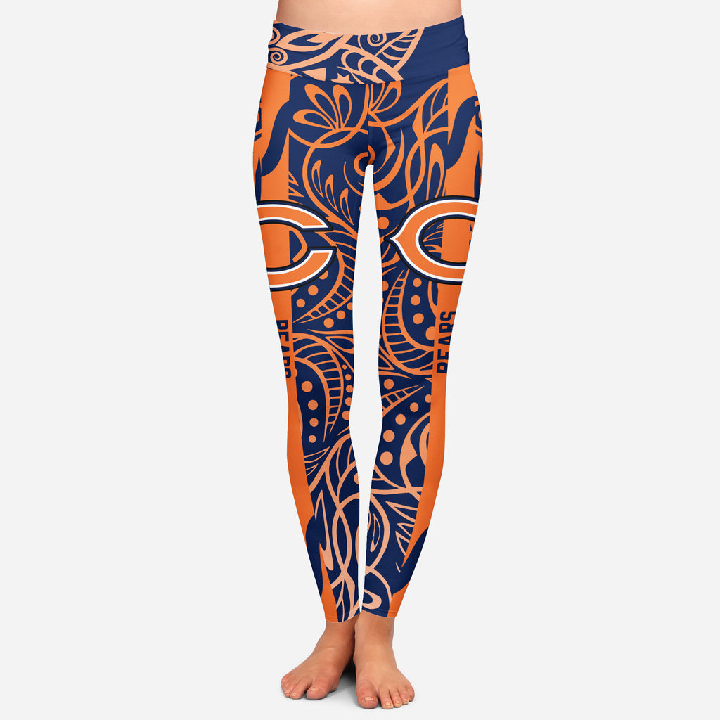 Curly Line Charming Daily Fashion Chicago Bears Leggings