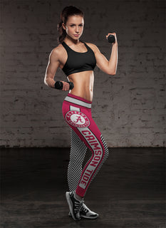 Fashion Gorgeous Fitting Fabulous Alabama Crimson Tide Leggings