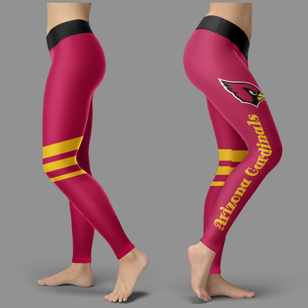 Through Great Logo Spread Body Striped Circle Arizona Cardinals Leggings