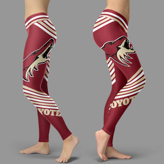Straight Cute Beautiful Attractive Arizona Coyotes Leggings