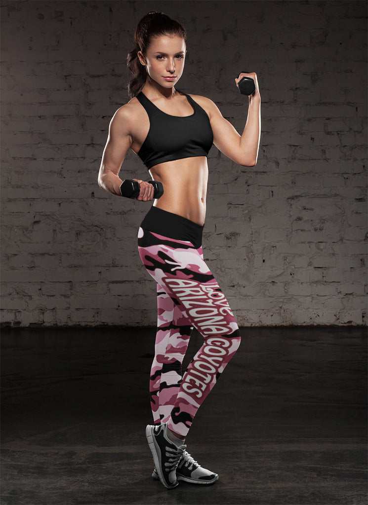 Camo Sporty Trending Fashion Fabulous Arizona Coyotes Leggings