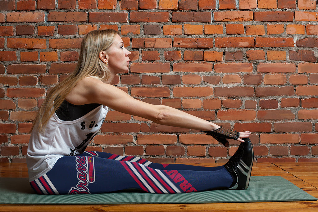 Straight Cute Beautiful Attractive Atlanta Braves Leggings