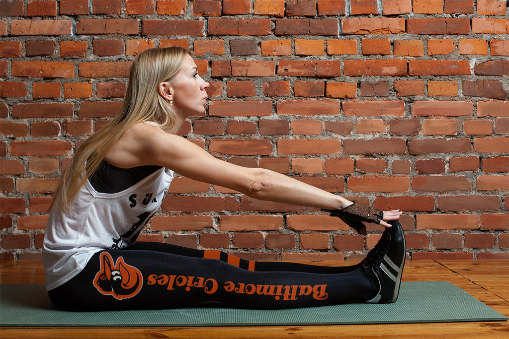 Through Great Logo Spread Body Striped Circle Baltimore Orioles Leggings