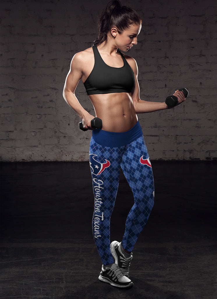 Cosy Seamless Border Wonderful Houston Texans Leggings