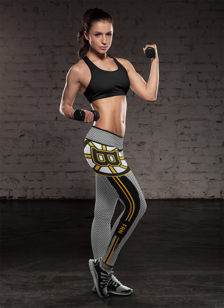 Charming Lovely Little Dots Along Body Boston Bruins Leggings