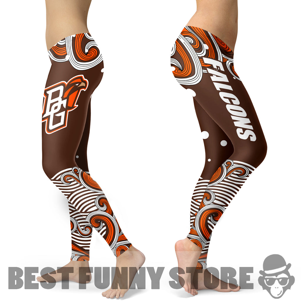 Colorful Summer With Wave Bowling Green Falcons Leggings