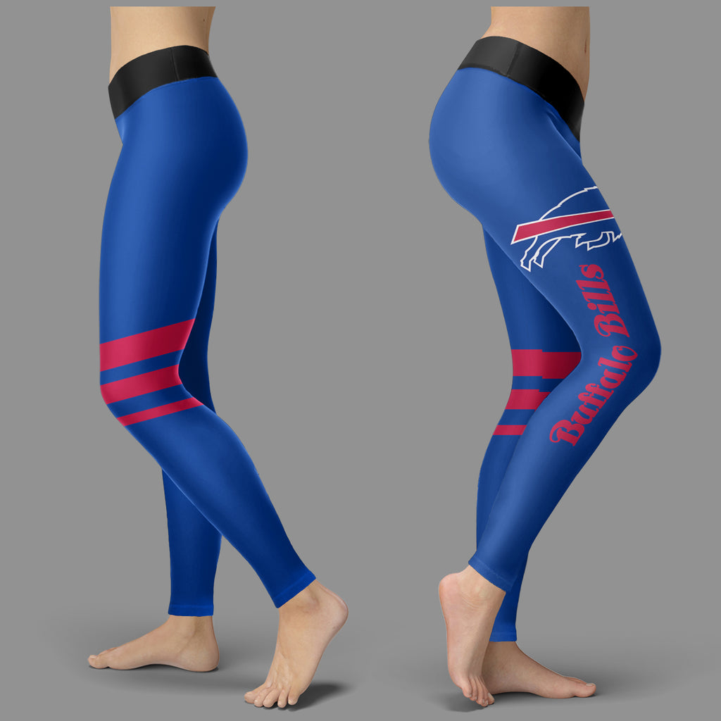 Through Great Logo Spread Body Striped Circle Buffalo Bills Leggings