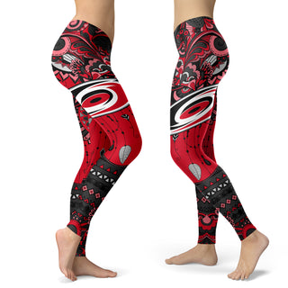 Boho Carolina Hurricanes Leggings With Fantastic Art
