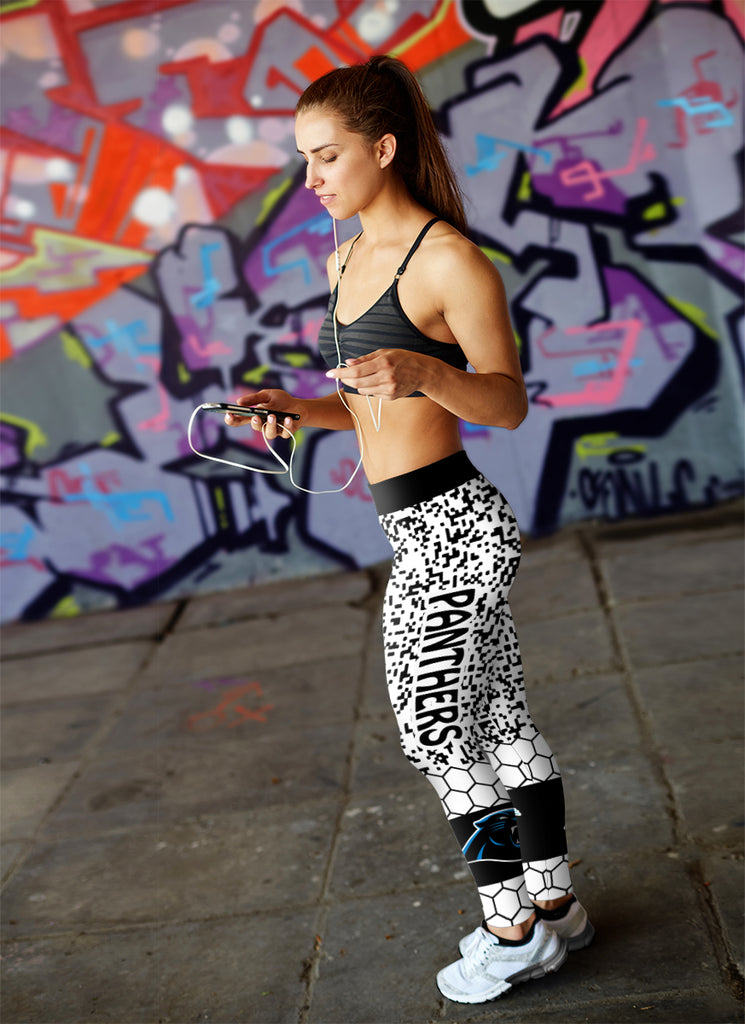 Incredible Patterns Luxury Nice Carolina Panthers Leggings