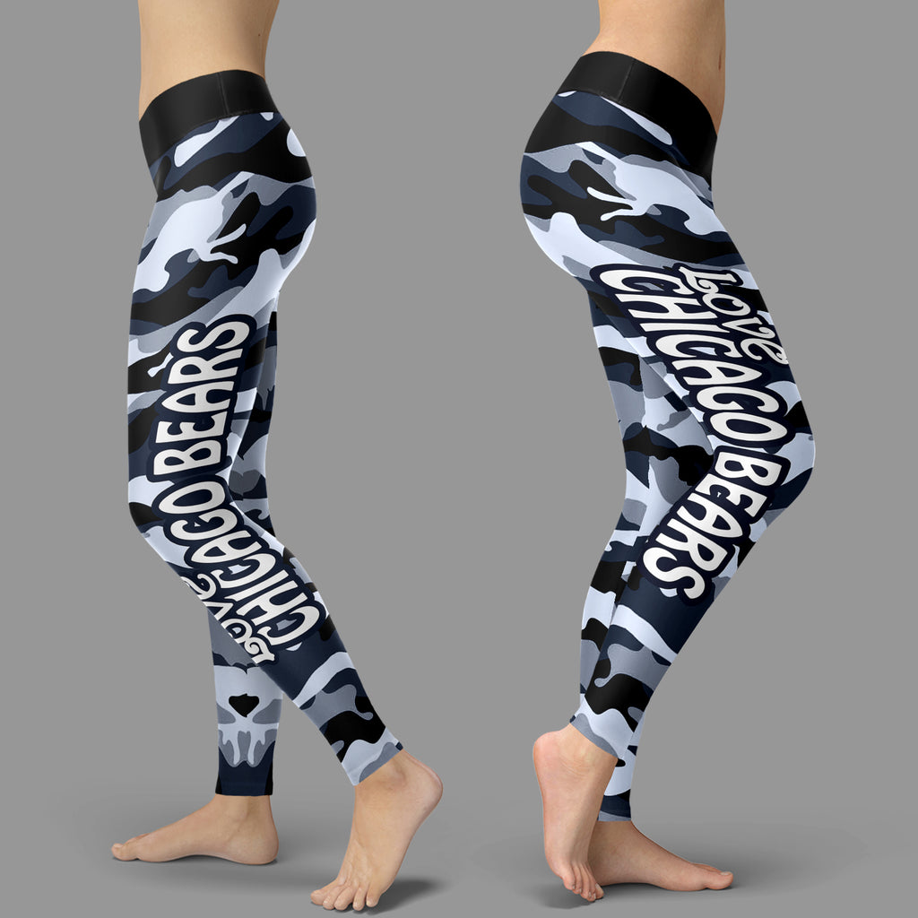 Camo Sporty Trending Fashion Fabulous Chicago Bears Leggings