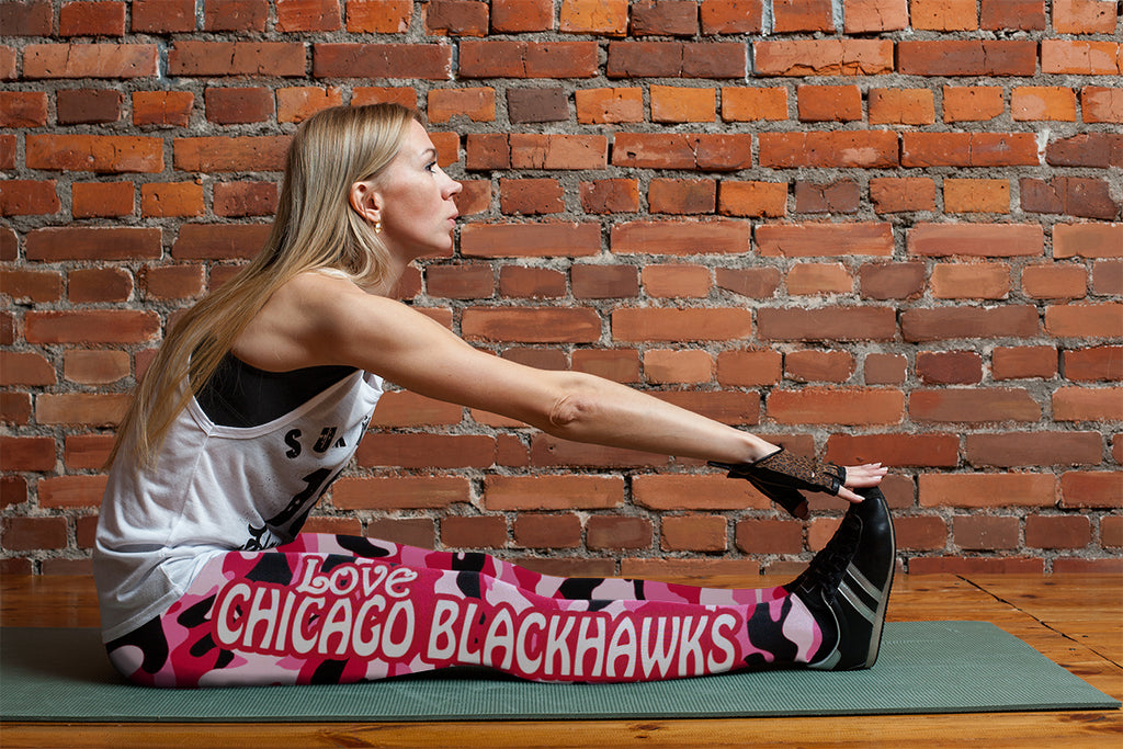 Camo Sporty Trending Fashion Fabulous Chicago Blackhawks Leggings