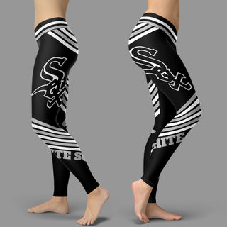 Straight Cute Beautiful Attractive Chicago White Sox Leggings