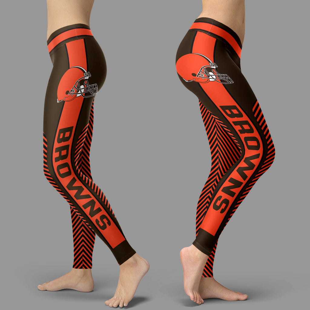 Fashion Gorgeous Fitting Fabulous Cleveland Browns Leggings