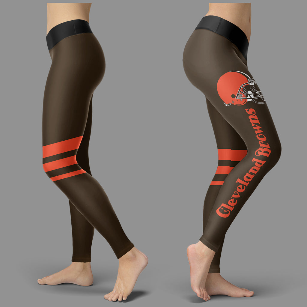 Through Great Logo Spread Body Striped Circle Cleveland Browns Leggings