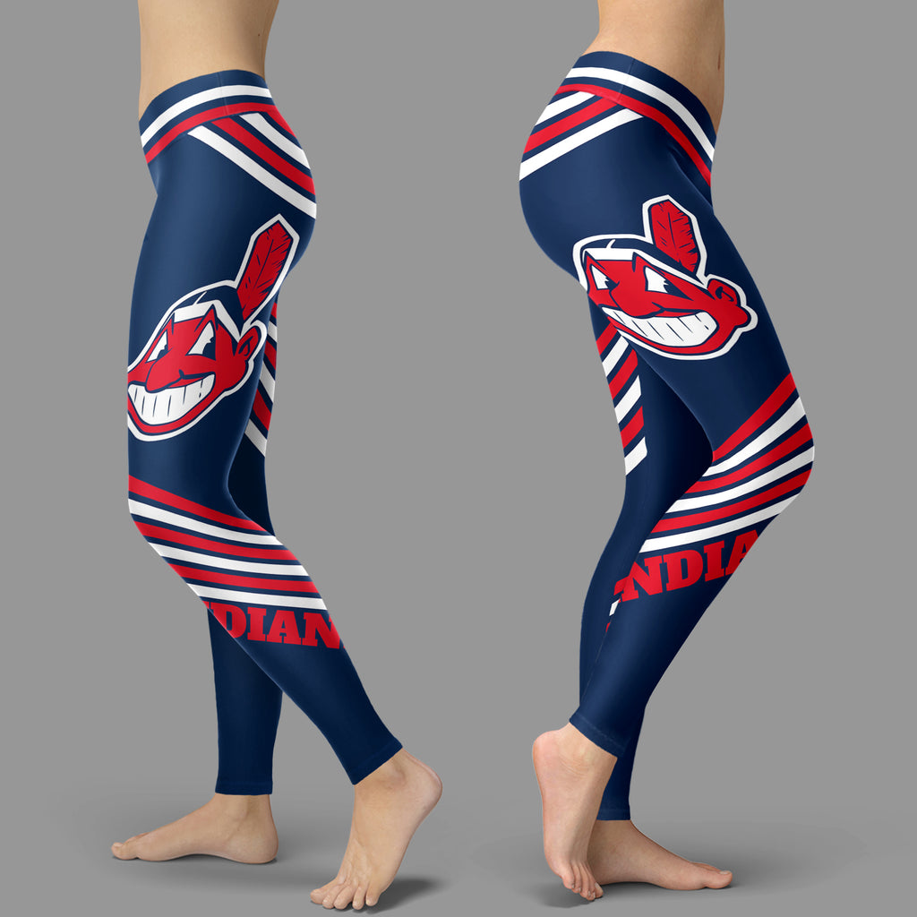 Straight Cute Beautiful Attractive Cleveland Indians Leggings