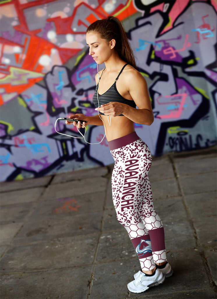 Incredible Patterns Luxury Nice Colorado Avalanche Leggings