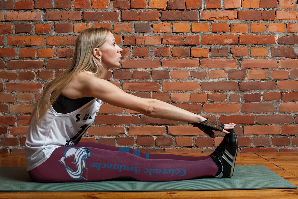 Through Great Logo Spread Body Striped Circle Colorado Avalanche Leggings