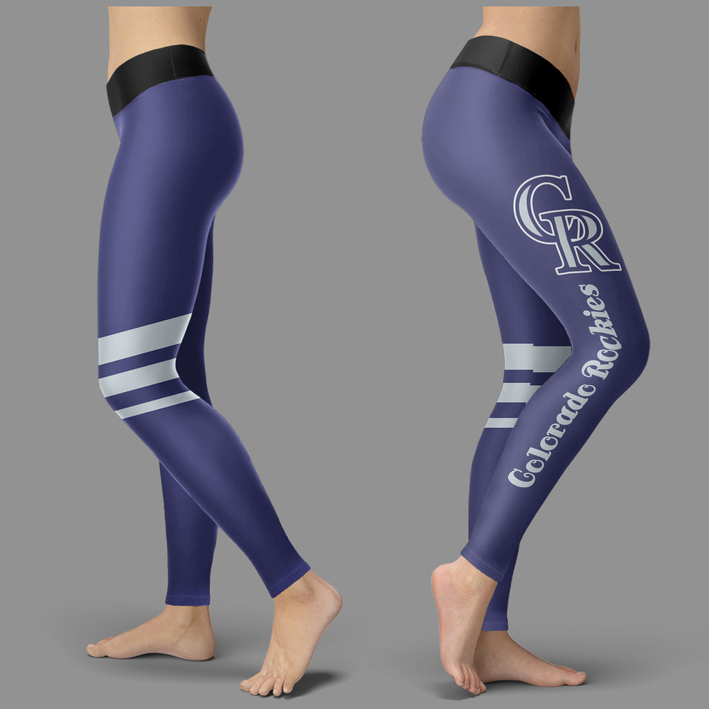 Through Great Logo Spread Body Striped Circle Colorado Rockies Leggings