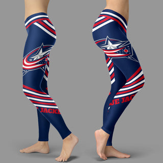Straight Cute Beautiful Attractive Columbus Blue Jackets Leggings