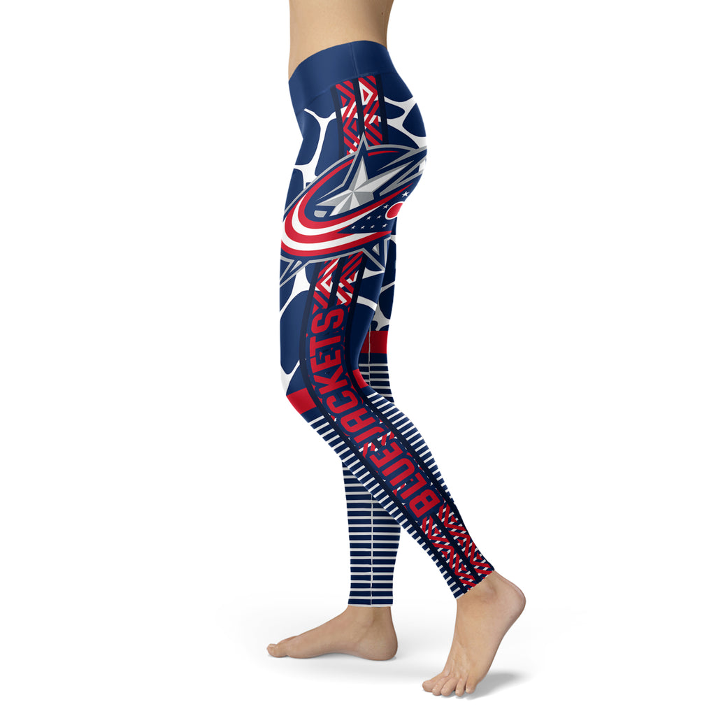 Cool Air Lighten Attractive Kind Columbus Blue Jackets Leggings