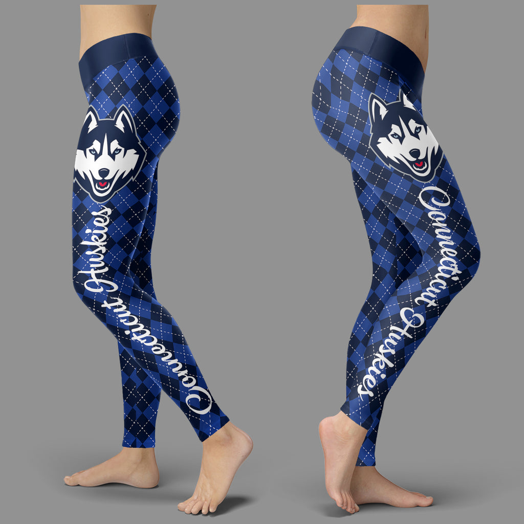 Cosy Seamless Border Wonderful Connecticut Huskies Leggings