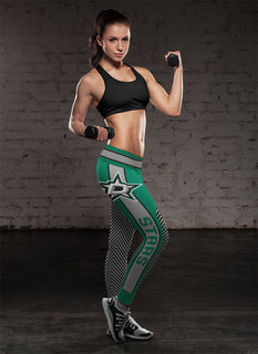 Fashion Gorgeous Fitting Fabulous Dallas Stars Leggings