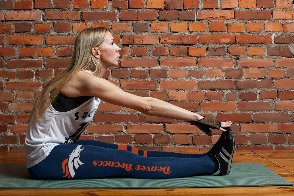 Through Great Logo Spread Body Striped Circle Denver Broncos Leggings