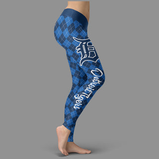 Cosy Seamless Border Wonderful Detroit Tigers Leggings
