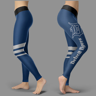 Through Great Logo Spread Body Striped Circle Detroit Tigers Leggings