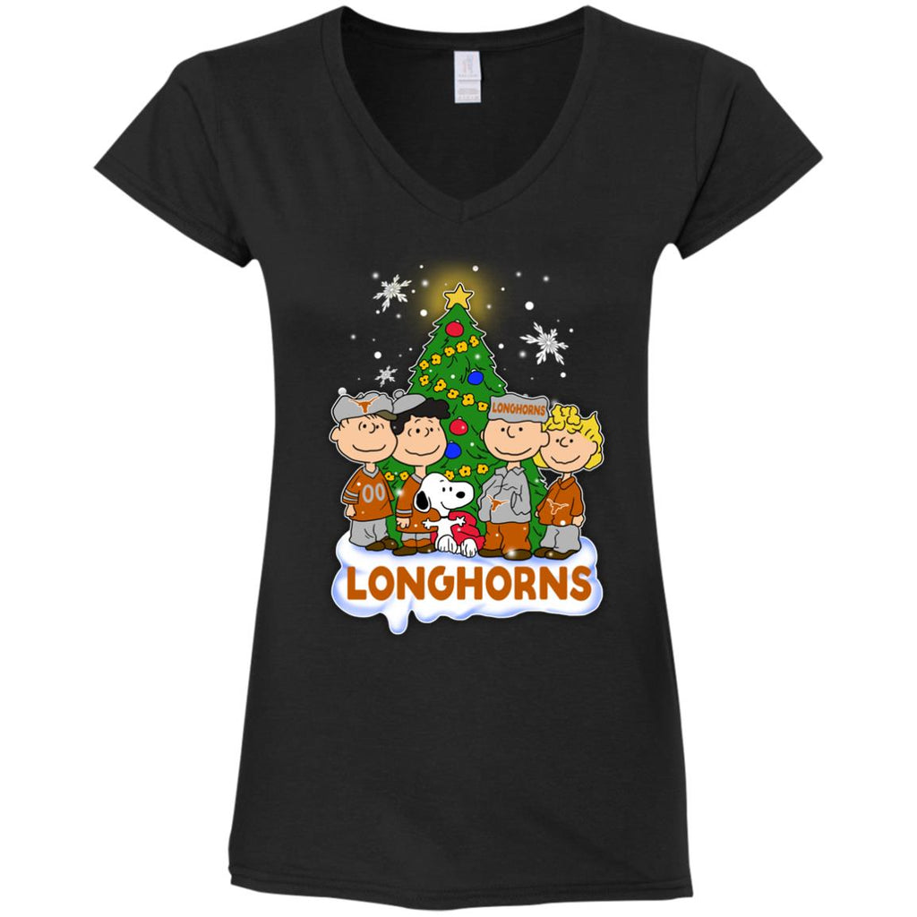 Snoopy The Peanuts Texas Longhorns Christmas T Shirts