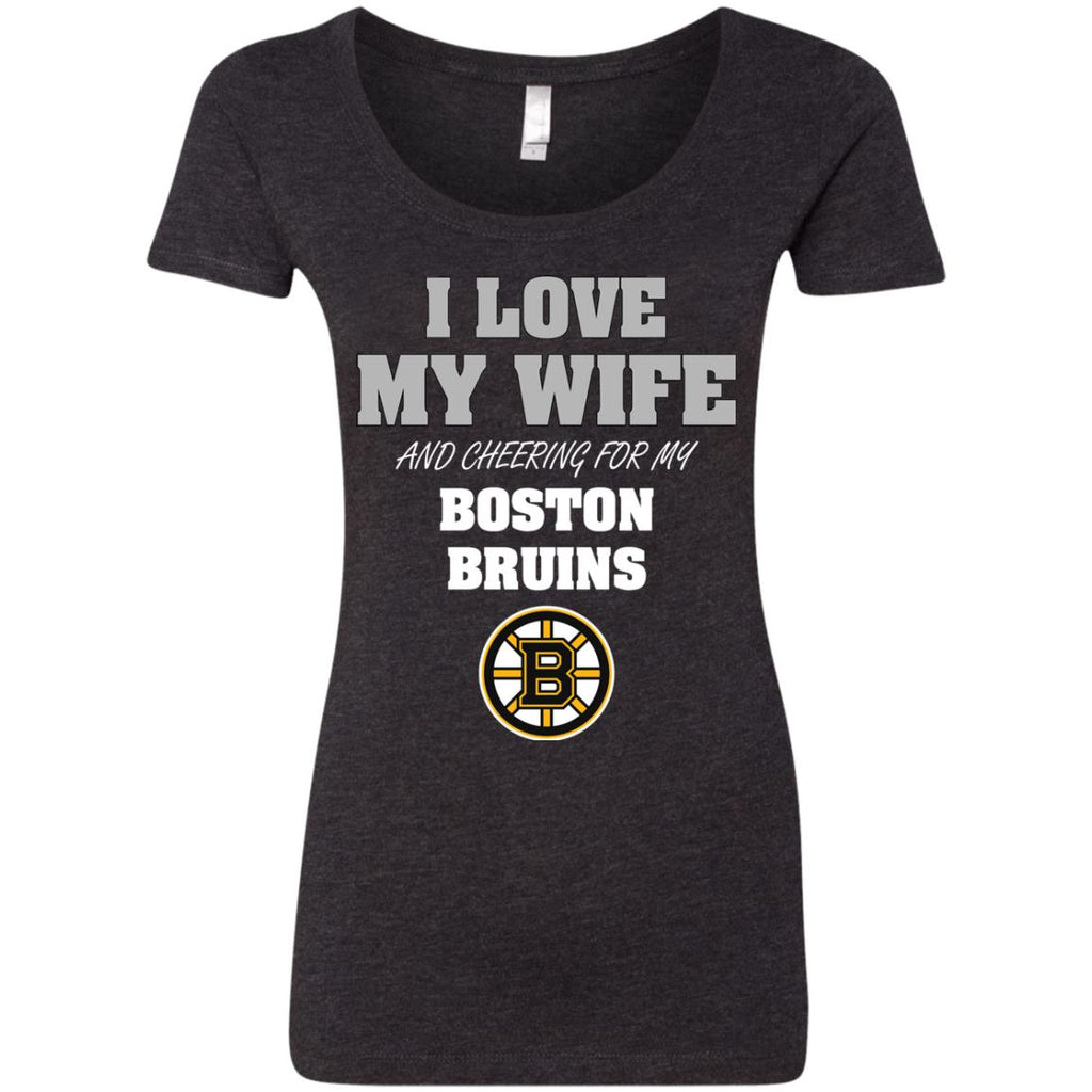 I Love My Wife And Cheering For My Boston Bruins T Shirts