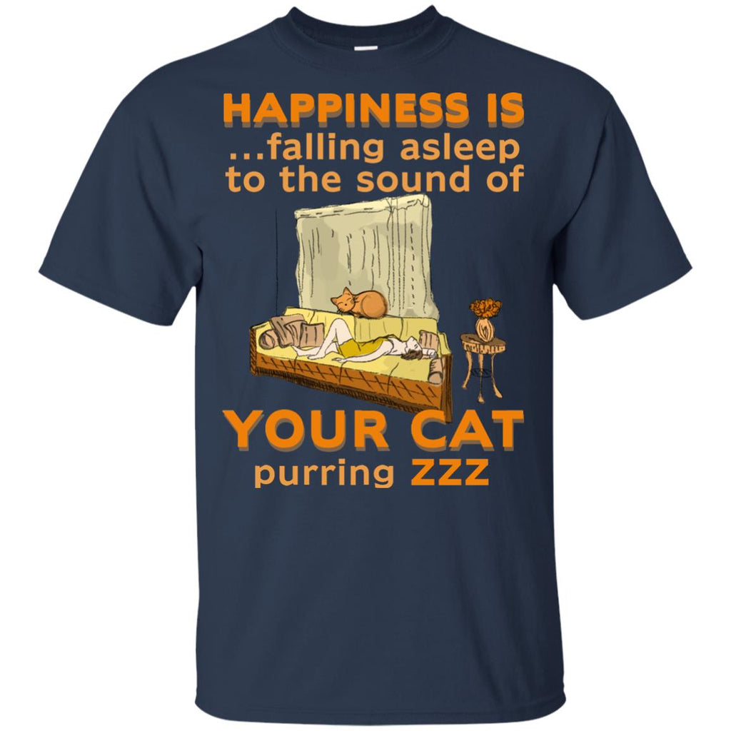 Happiness Is Falling Asleep T Shirts