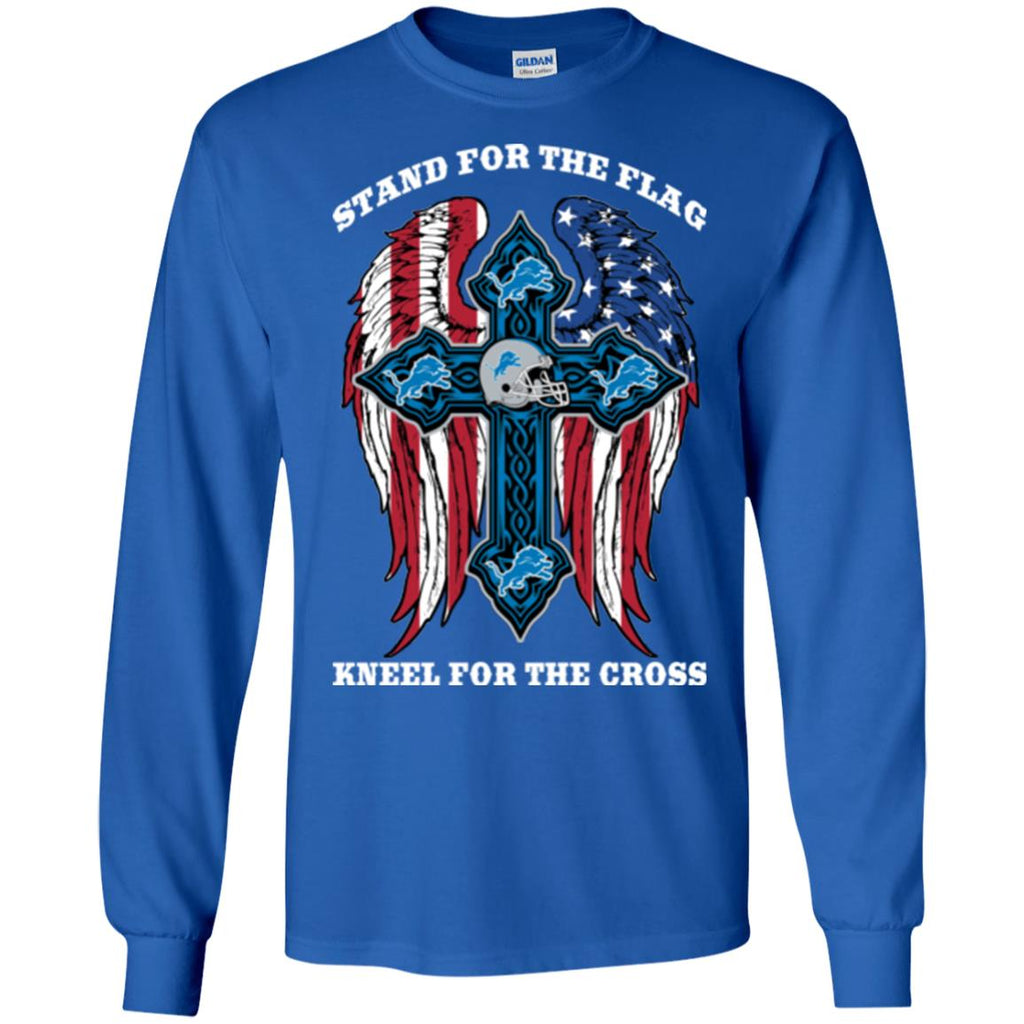 Stand For The Flag Kneel For The Cross Detroit Lions T Shirts