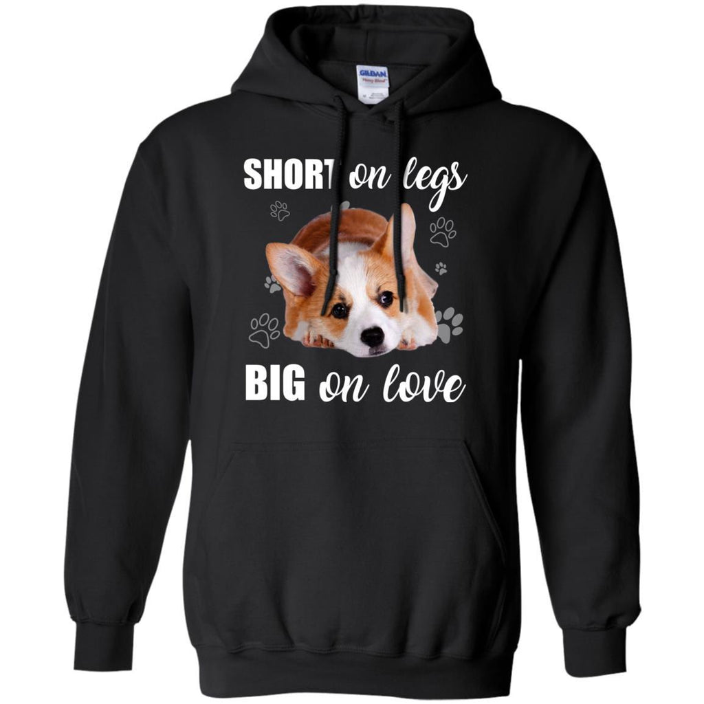 Short On Legs Big On Love Corgi T Shirts