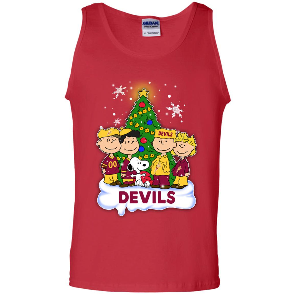 Snoopy The Peanuts Arizona State Sun Devils Christmas T Shirts