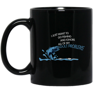 I Just Want To Go Fishing Mugs