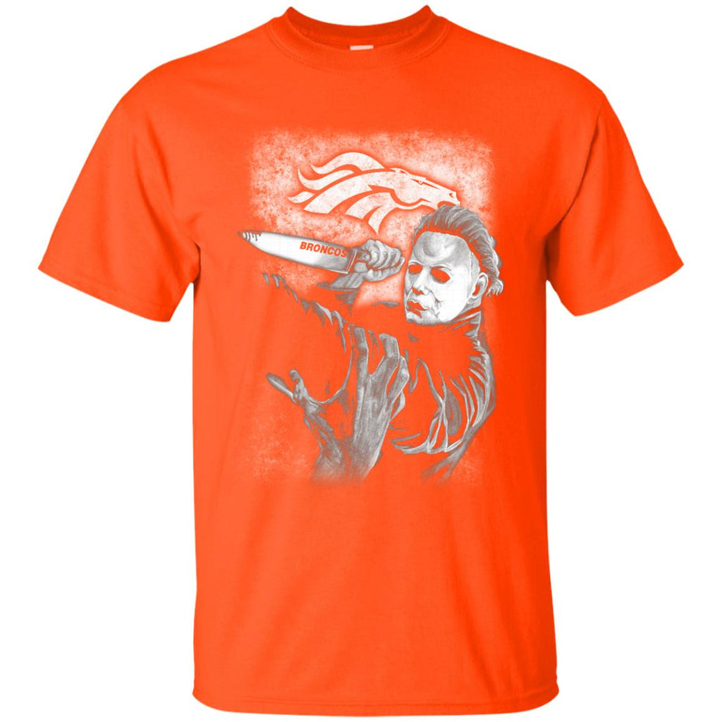 michael jason myers friday the 13th denver broncos halloween t shirts best funny store