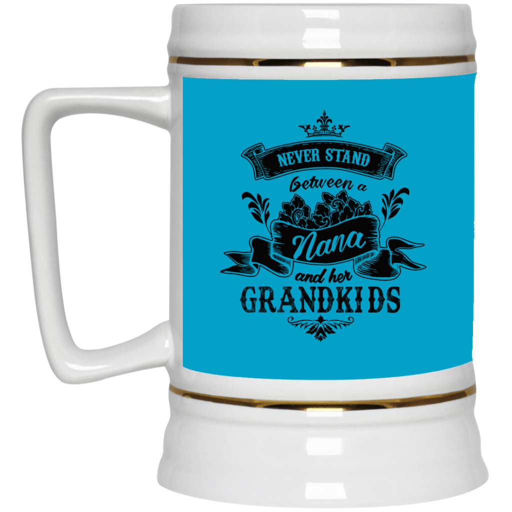 Never Stand Between A Nana And Her Grandkids Mugs