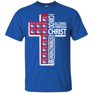 I Can Do All Things Through Christ New York Rangers T Shirts