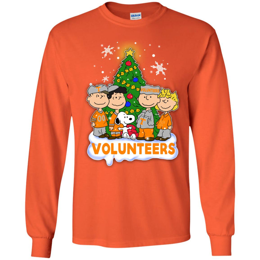 Snoopy The Peanuts Tennessee Volunteers Christmas T Shirts